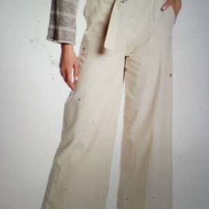 Every belted wise leg pants